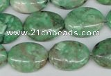 CCO119 15.5 inches 15*20mm oval dyed natural chrysotine beads