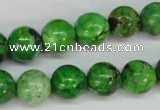 CCO125 15.5 inches 12mm round dyed natural chrysotine beads