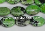 CCO136 15.5 inches 13*18mm oval dyed natural chrysotine beads