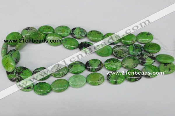 CCO137 15.5 inches 15*20mm oval dyed natural chrysotine beads