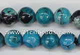 CCO166 15.5 inches 15mm round dyed natural chrysotine beads