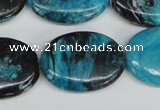 CCO181 15.5 inches 22*30mm oval dyed natural chrysotine beads