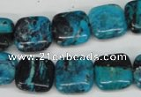 CCO185 15.5 inches 14*14mm square dyed natural chrysotine beads