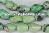 CCO21 15.5 inches 10*14mm teardrop natural chrysotine beads