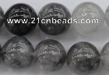 CCQ282 15.5 inches 16mm round cloudy quartz beads wholesale