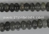 CCQ327 15.5 inches 6*10mm rondelle cloudy quartz beads wholesale