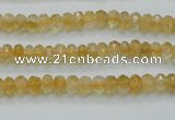 CCR07 15.5 inches 4*6mm faceted rondelle natural citrine gemstone beads