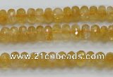 CCR08 15.5 inches 5*8mm faceted rondelle natural citrine gemstone beads