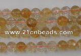 CCR152 15.5 inches 7mm faceted round natural citrine gemstone beads