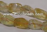 CCR214 15.5 inches 12*14mm faceted nuggets natural citrine beads