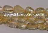 CCR217 15.5 inches 9*12mm nuggets natural citrine gemstone beads