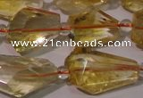 CCR222 15.5 inches 10*14mm – 12*16mm faceted nuggets natural citrine beads
