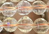 CCR322 15.5 inches 8mm faceted round natural citrine beads