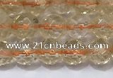 CCR325 15.5 inches 6mm faceted round citrine gemstone beads