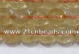 CCR340 15.5 inches 6mmm faceted round citrine beads wholesale