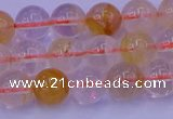 CCR362 15.5 inches 8mm round citrine beads wholesale