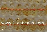 CCR52 15.5 inches 5*8mm faceted rondelle natural citrine beads