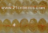 CCR53 15.5 inches 6*10mm faceted rondelle natural citrine beads