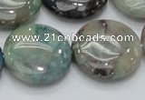 CCS06 15.5 inches 25mm flat round natural chrysocolla gemstone beads
