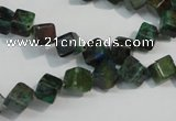 CCS155 15.5 inches 6*6mm cube dyed chrysocolla gemstone beads
