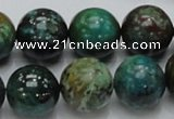 CCS16 15.5 inches 16mm round natural chrysocolla gemstone beads