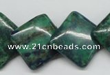 CCS180 15.5 inches 20*20mm diamond dyed chrysocolla gemstone beads