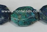 CCS182 15.5 inches 22*30mm freeform dyed chrysocolla gemstone beads