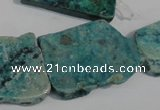 CCS185 15.5 inches 22*25mm – 35*40mm freeform dyed chrysocolla beads