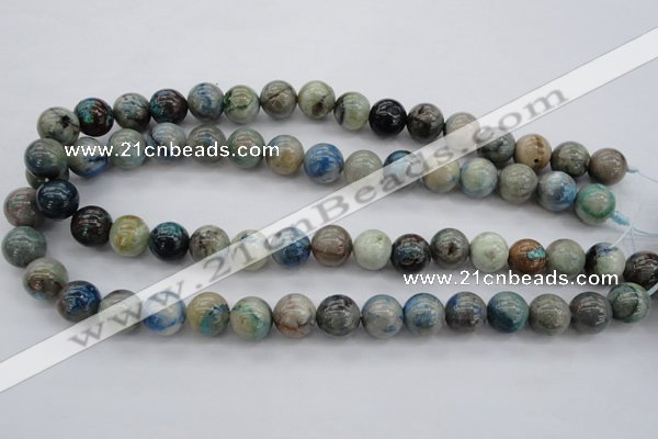 CCS21 15.5 inches 12mm round natural chrysocolla gemstone beads