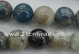 CCS22 15.5 inches 14mm round natural chrysocolla gemstone beads