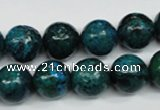 CCS405 15.5 inches 14mm round dyed chrysocolla gemstone beads