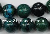 CCS406 15.5 inches 16mm round dyed chrysocolla gemstone beads
