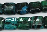 CCS464 15.5 inches 14*14mm square dyed chrysocolla gemstone beads