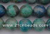 CCS514 15.5 inches 12mm round natural chrysocolla gemstone beads