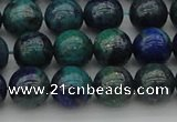CCS524 15.5 inches 12mm round dyed chrysocolla gemstone beads