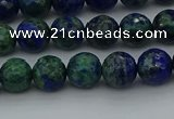 CCS532 15.5 inches 8mm faceted round dyed chrysocolla beads