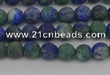 CCS541 15.5 inches 6mm round matte dyed chrysocolla beads