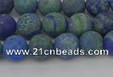 CCS542 15.5 inches 8mm round matte dyed chrysocolla beads