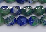 CCS547 15.5 inches 8mm faceted nuggets dyed chrysocolla beads