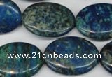 CCS61 16 inches 22*30mm oval dyed chrysocolla gemstone beads