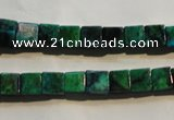 CCS611 15.5 inches 6*6mm cube dyed chrysocolla gemstone beads