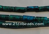 CCS624 15.5 inches 5*13mm tube dyed chrysocolla gemstone beads