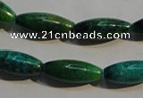 CCS634 15.5 inches 8*20mm rice dyed chrysocolla gemstone beads