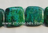 CCS673 15.5 inches 22*22mm square dyed chrysocolla gemstone beads