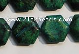 CCS675 15.5 inches 18*20mm hexagon dyed chrysocolla gemstone beads