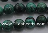 CCS801 15.5 inches 6mm round natural Chinese chrysocolla beads