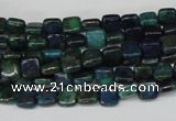 CCS83 15.5 inches 6*6mm square dyed chrysocolla gemstone beads