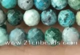 CCS882 15.5 inches 5.5mm faceted round natural chrysocolla beads