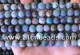 CCS889 15 inches 8mm round natural chrysocolla beads wholesale