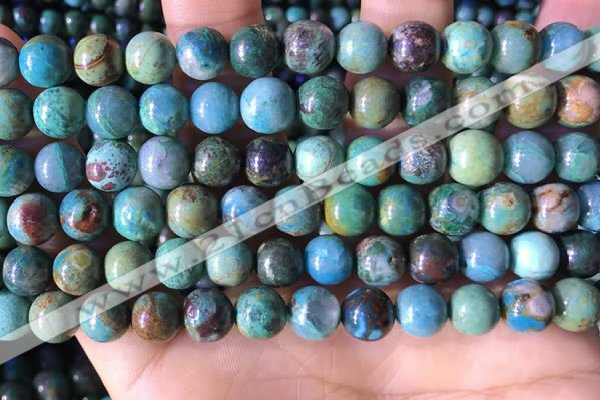 CCS894 15 inches 8mm round natural chrysocolla gemstone beads
